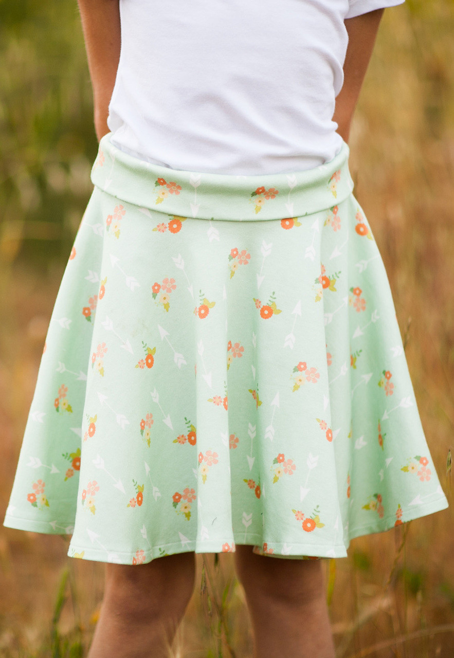 Pdf Pattern Tutorial Hand Embroidery Stitch My Garden 002: SIMPLE SKIRT PDF Sewing Pattern & Tutorial