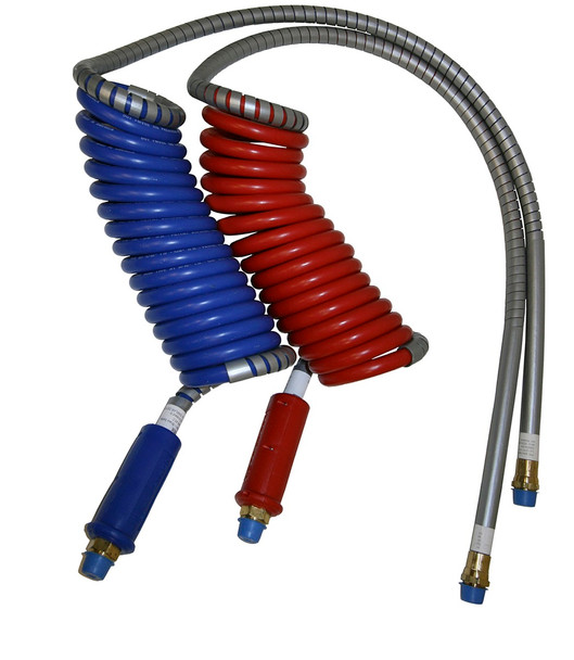 Alaskan Stallion™ Combo or Single 40 in. Lead Stallion Power Air Lines Coiled Air Brake Components