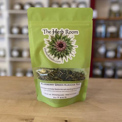 Blueberry Green Kukicha Tea (Pkg)