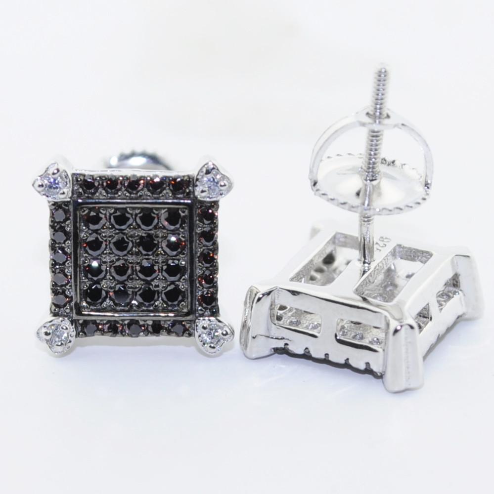 Black Micro Pave Earrings