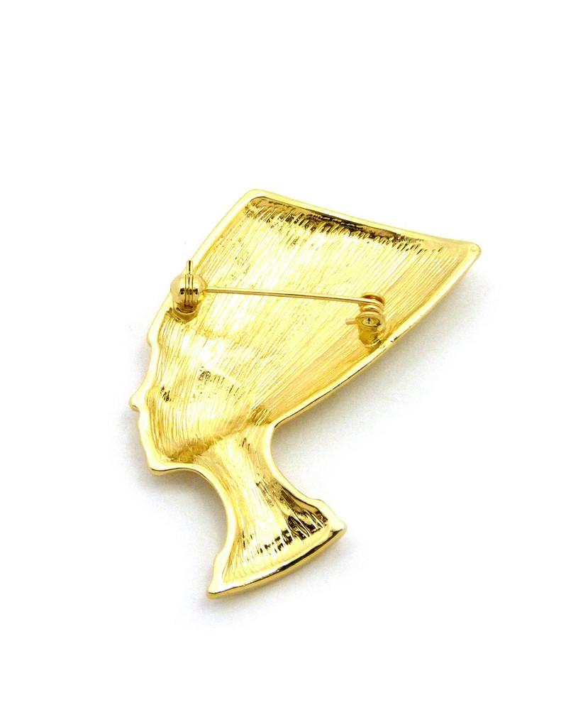 Queen Nefertiti 14k Gold Ancient Egyptian African Brooch Pin
