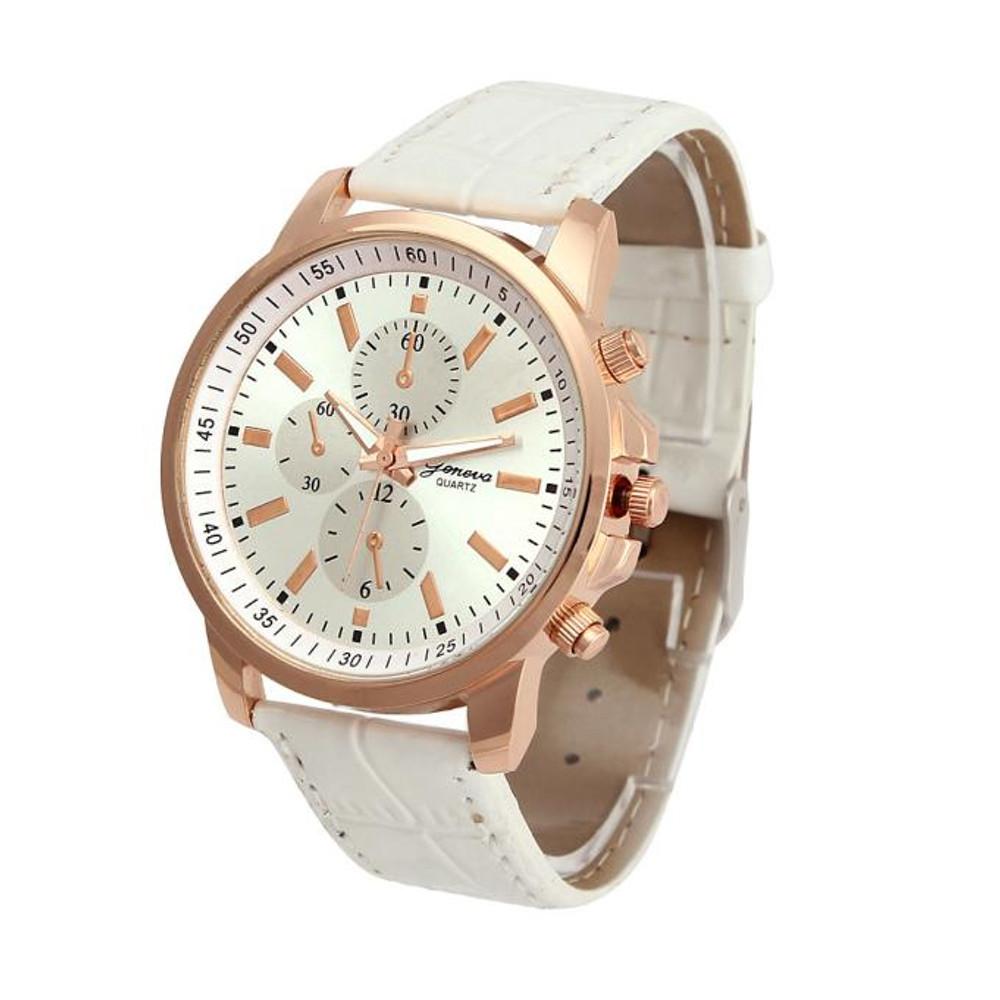 Classic Ladies Rose Gold Tone Cream Watch