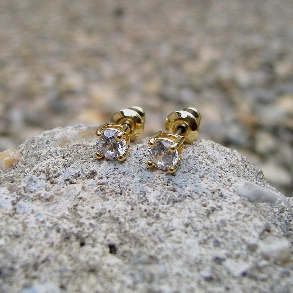 4mm Ice Earrings