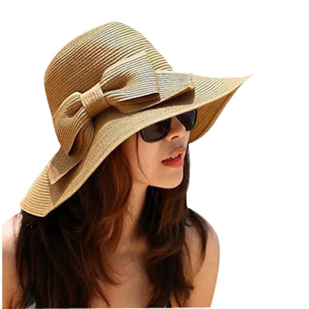 Bohemian Summer Sun Floppy Wide Beach Large Straw Hat