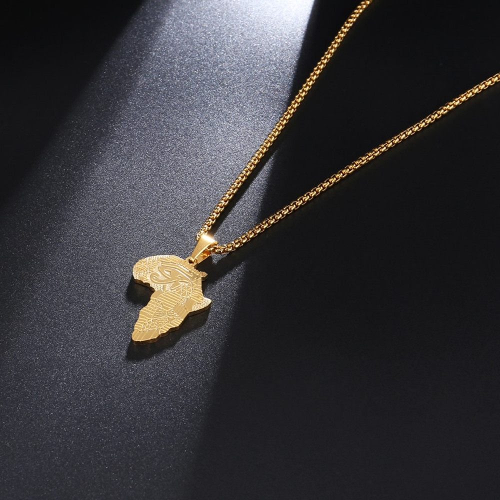 Mother's Day Fashion Eye of Horus Ankh Cross 14K Rose Gold Over Pendant Necklace