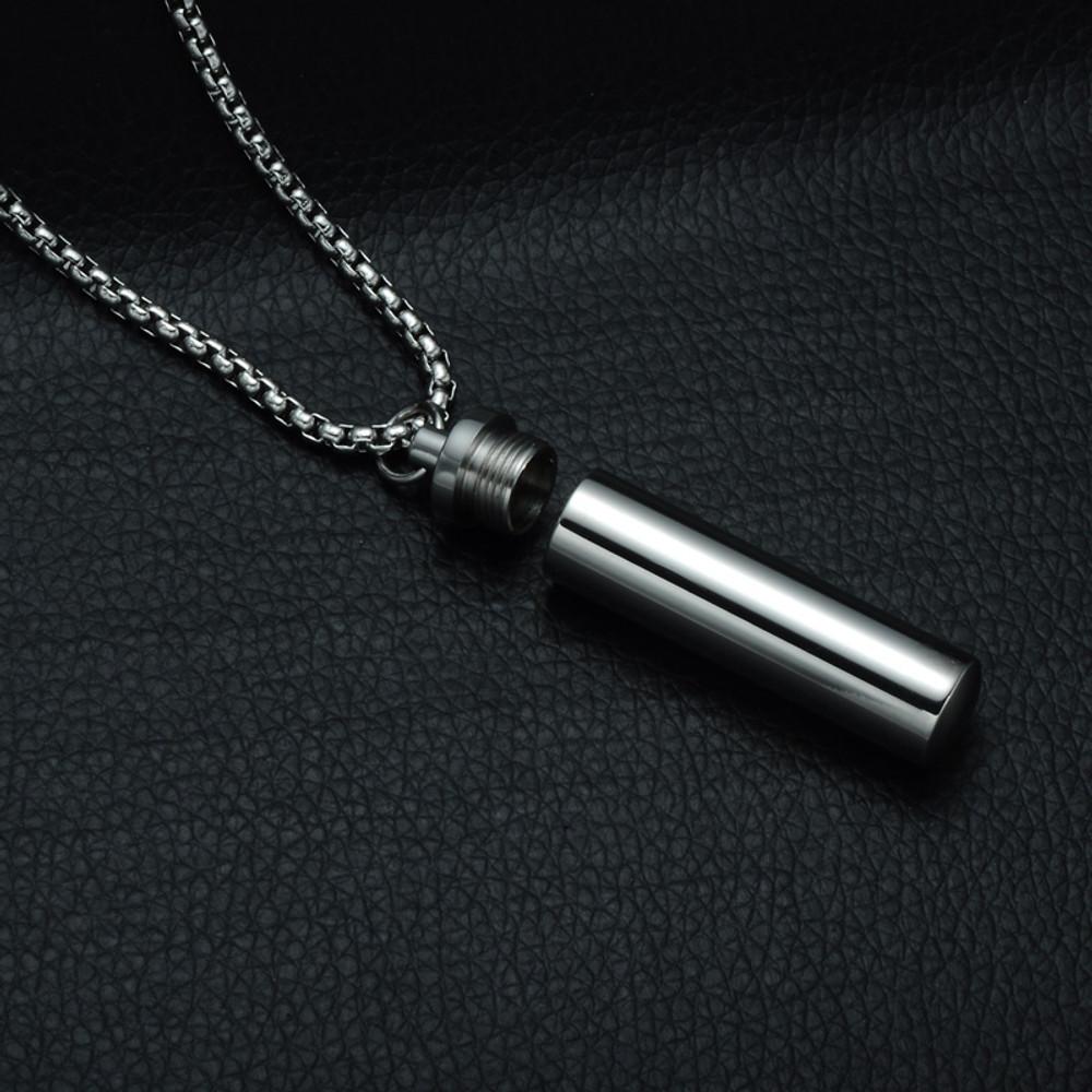 Ladies Open Wishing Bottle Keepsake 60CM Stainless Steel Chain Necklace