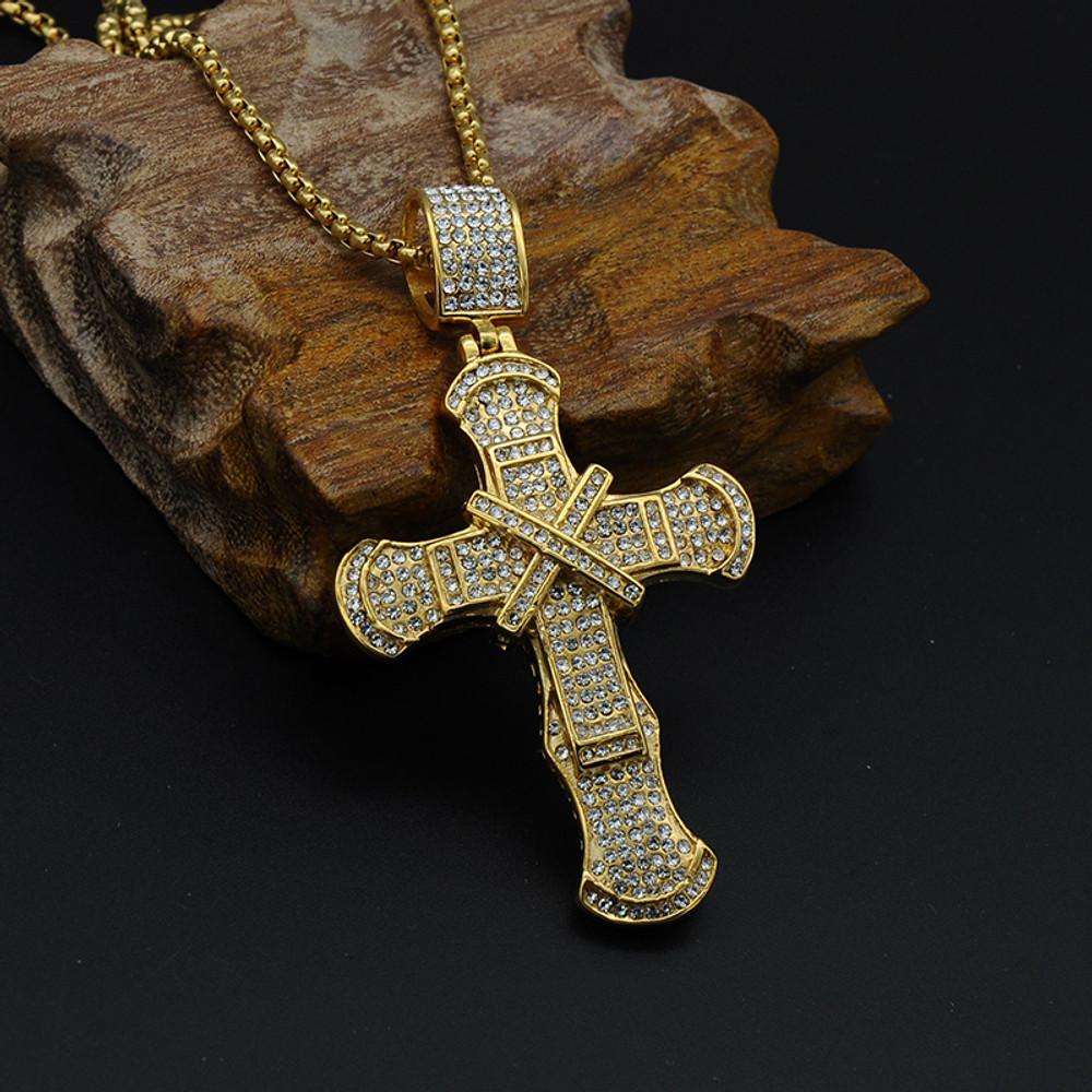Lab Diamond Cross Pendant