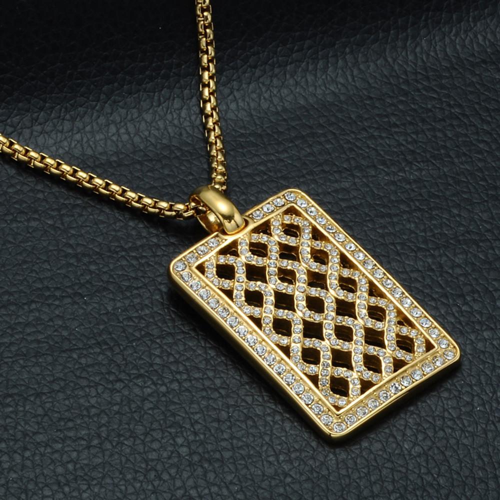 14k Gold Lab Diamond Dogtag