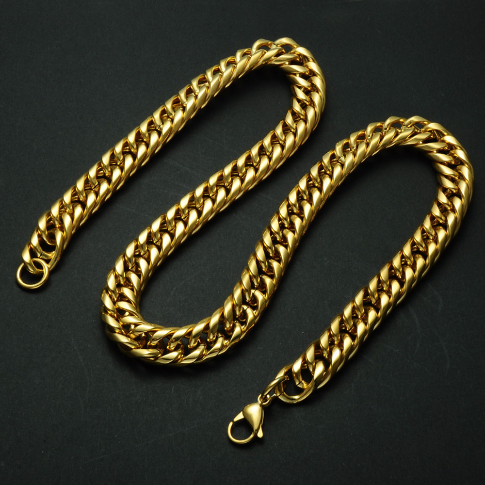24 Inch Titanium Stainless Steel Cuban Link Chain