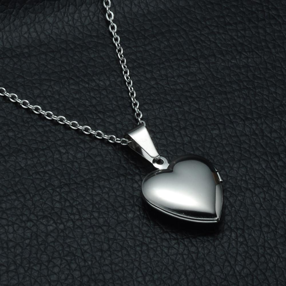 Ladies Heart Locket Necklace