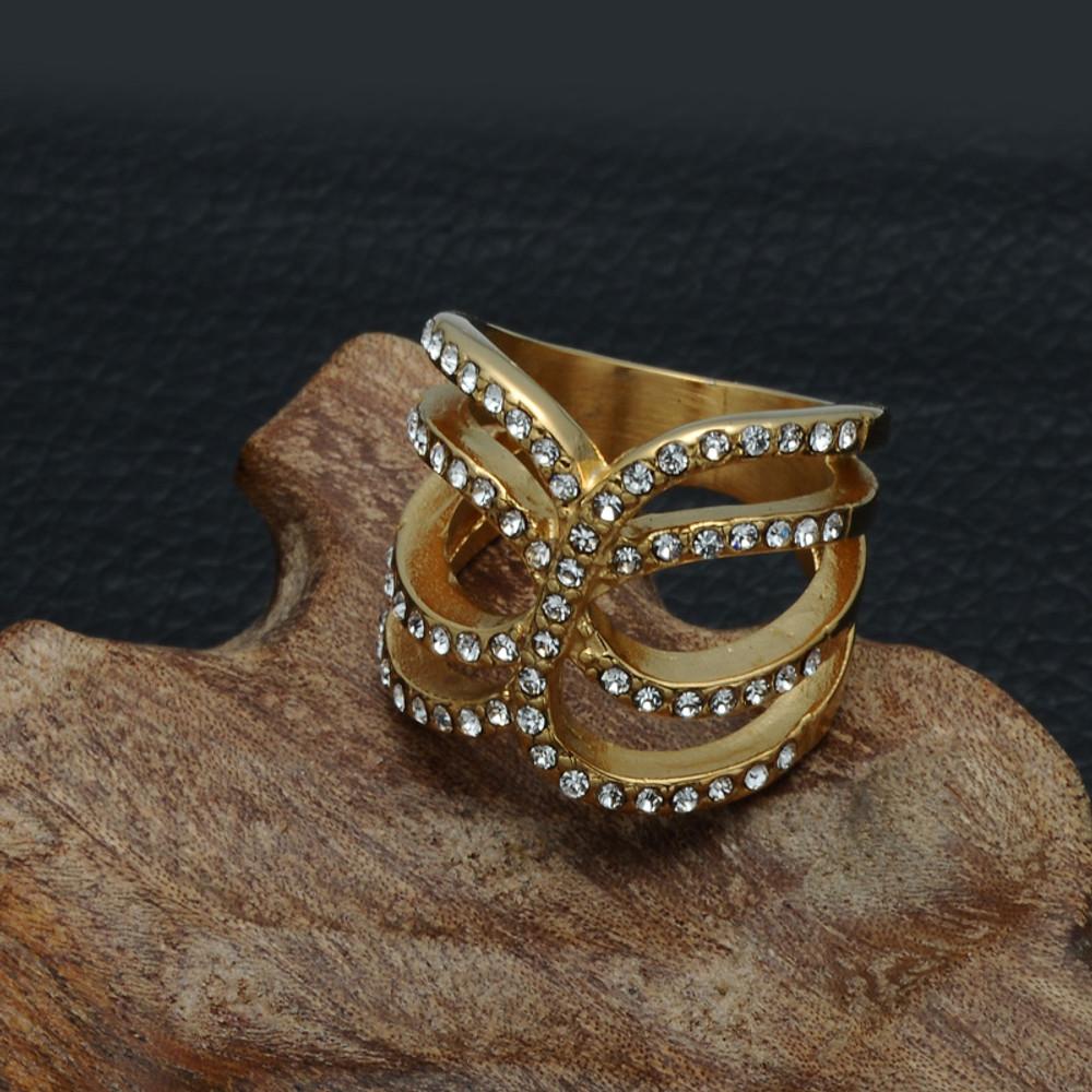 14k Gold Titanium Stainless Steel Love Ring