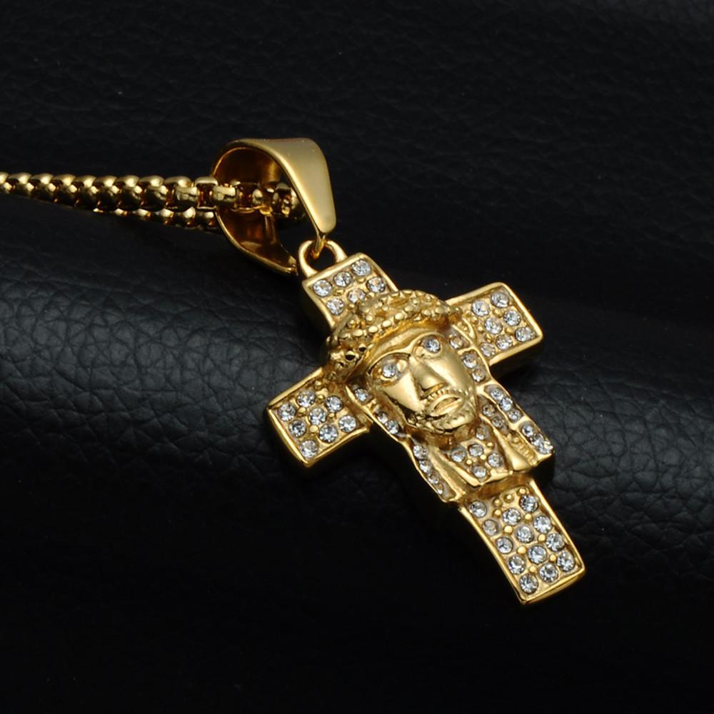 14k GoldJesus Piece Cross Pendant