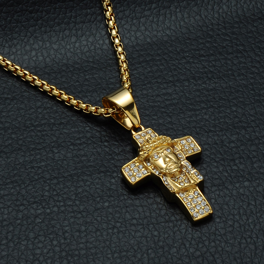 Jesus Piece Cross Pendant