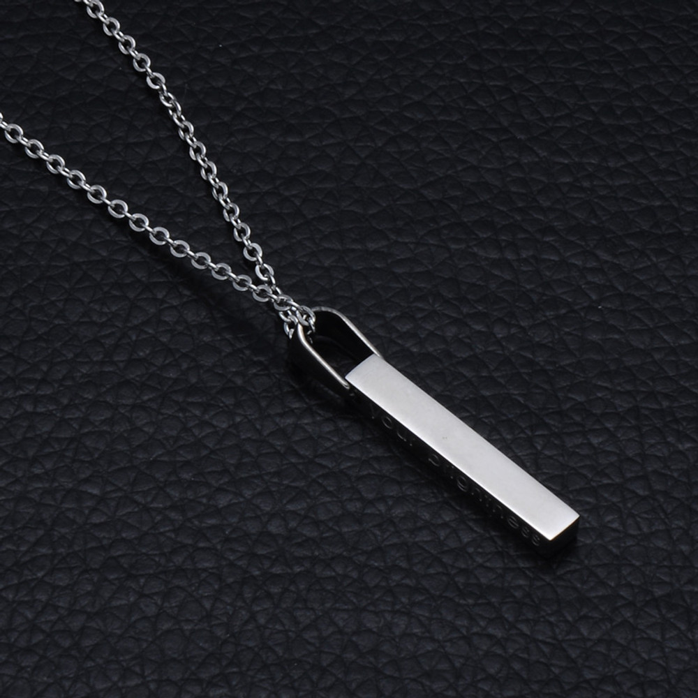 Ladies Your Brightness Stainless Steel Rainbow Inspirational Jewelry Fashion Necklace