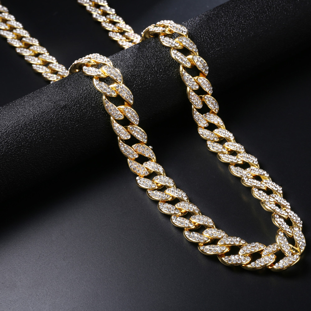 """30/""""MEN Stainless Steel HEAVY 14mm Gold Miami Curb Chain Bracelet Necklace*GS154"""