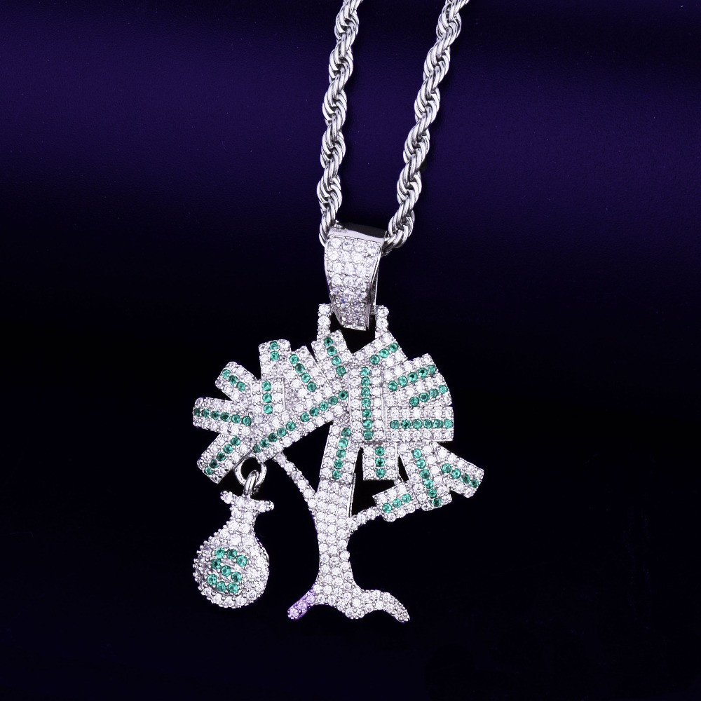 hip hop Money Bag Money Tree Chain