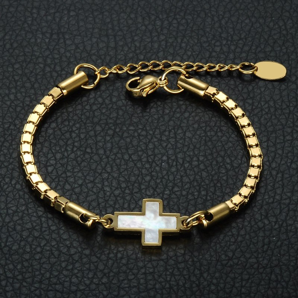 Christian Prayer Cross Bracelet