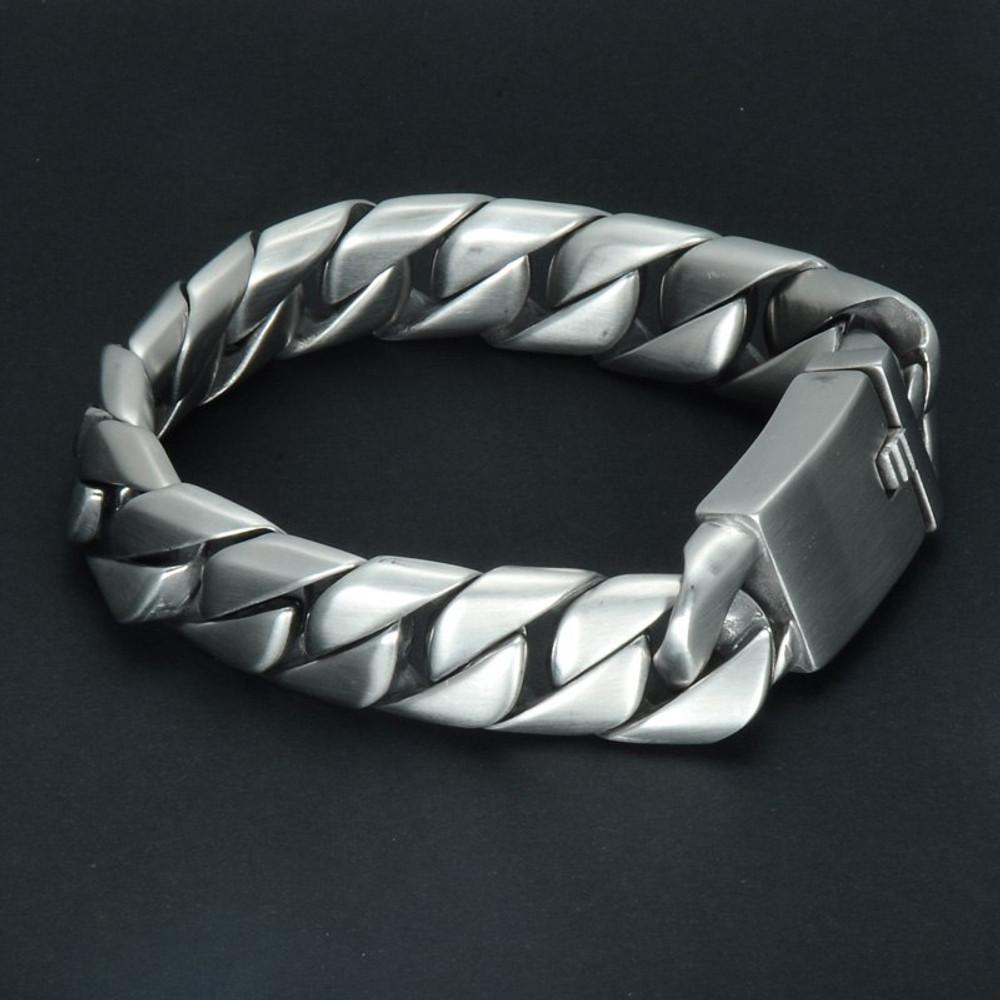16mm 316L Stainless Steel Curb Cuban Link Bracelet