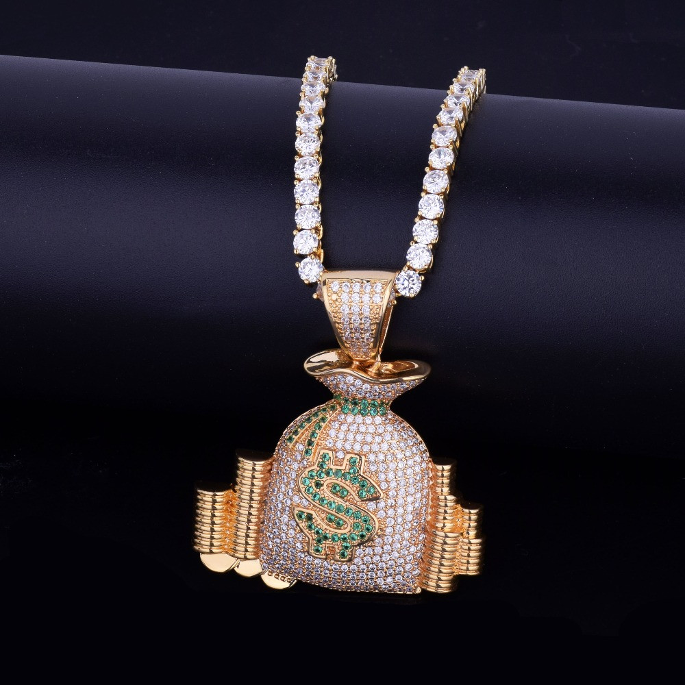 Gold Money Bag Chain