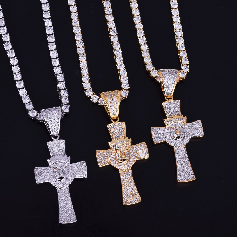Iced Out Lion Of Judah Cross
