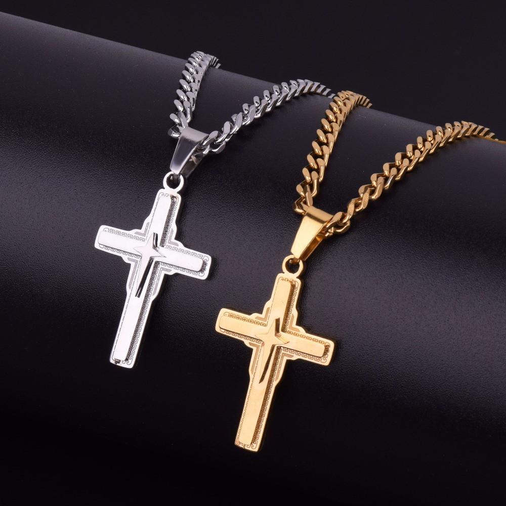 Classic Mens Cross Pendant