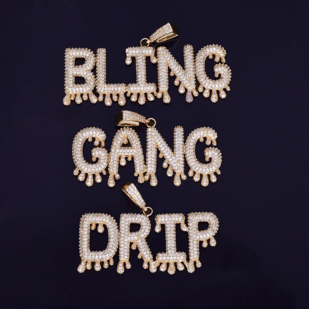Bubble Letters Hip Hop Pendant