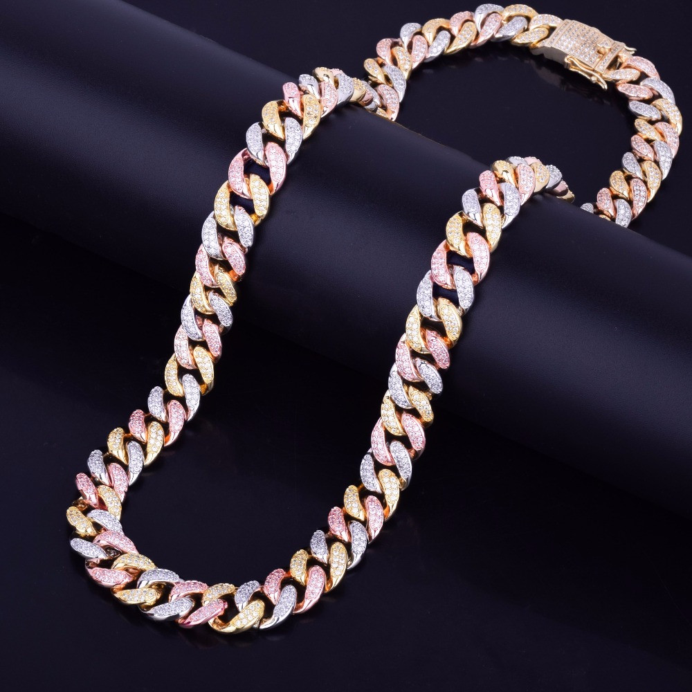 24k Gold Cuban Link Chain Necklace