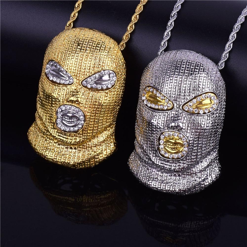 Silver Masked Goon Pendant Chain