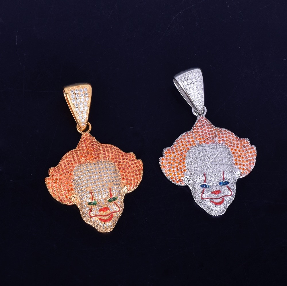 Killer Clown Hip Hop Pendant Chain Necklace