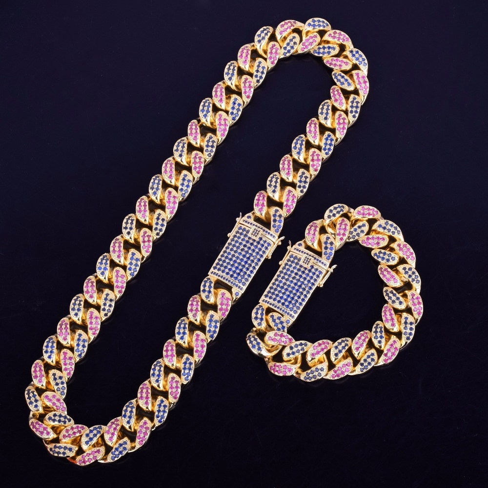 Miami Cuban Link Chain Bracelet Set