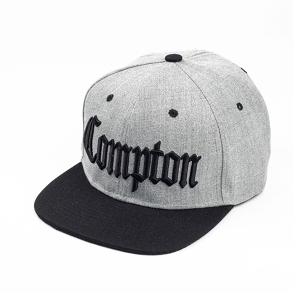 Compton Embroidery Hip Hop Snapback High Fashion Hat