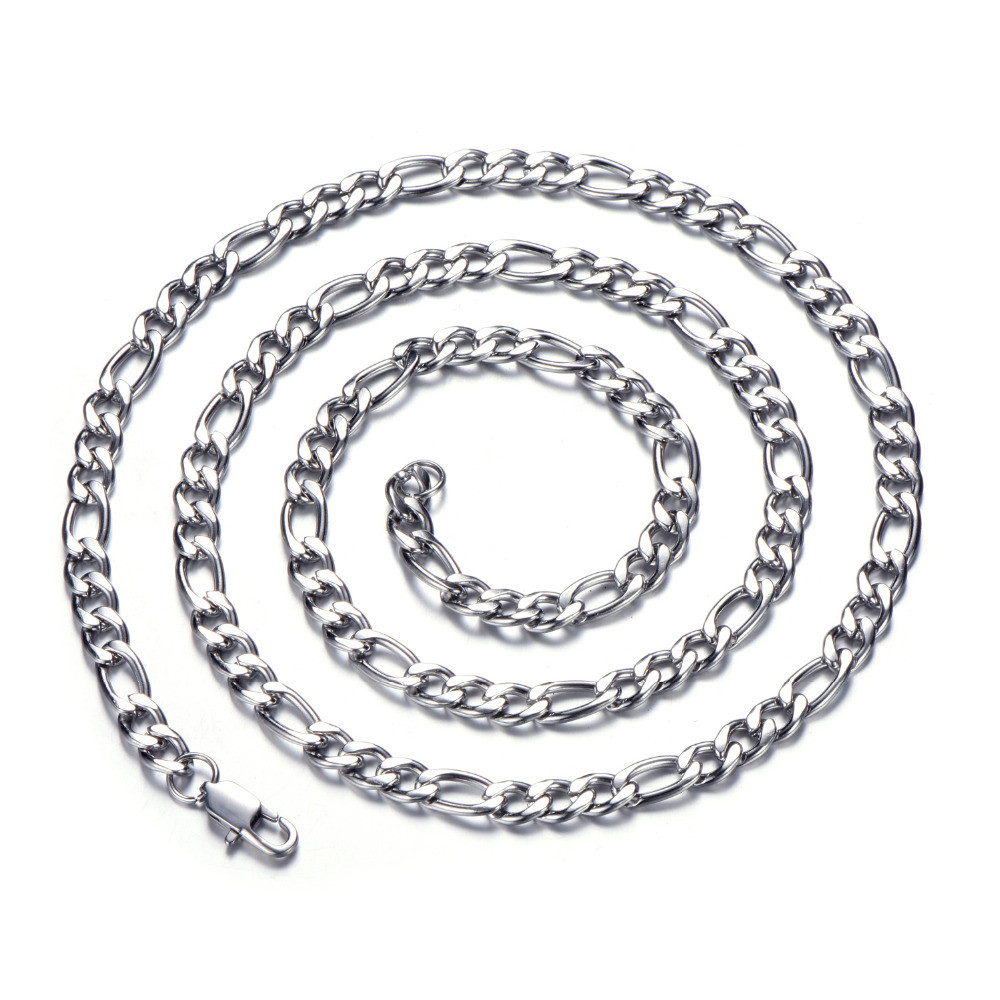 Silver Figaro Link Chain