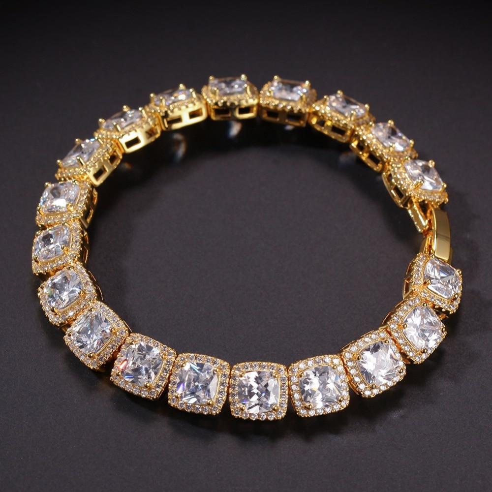 14k Gold Mens Lab diamond Bracelet
