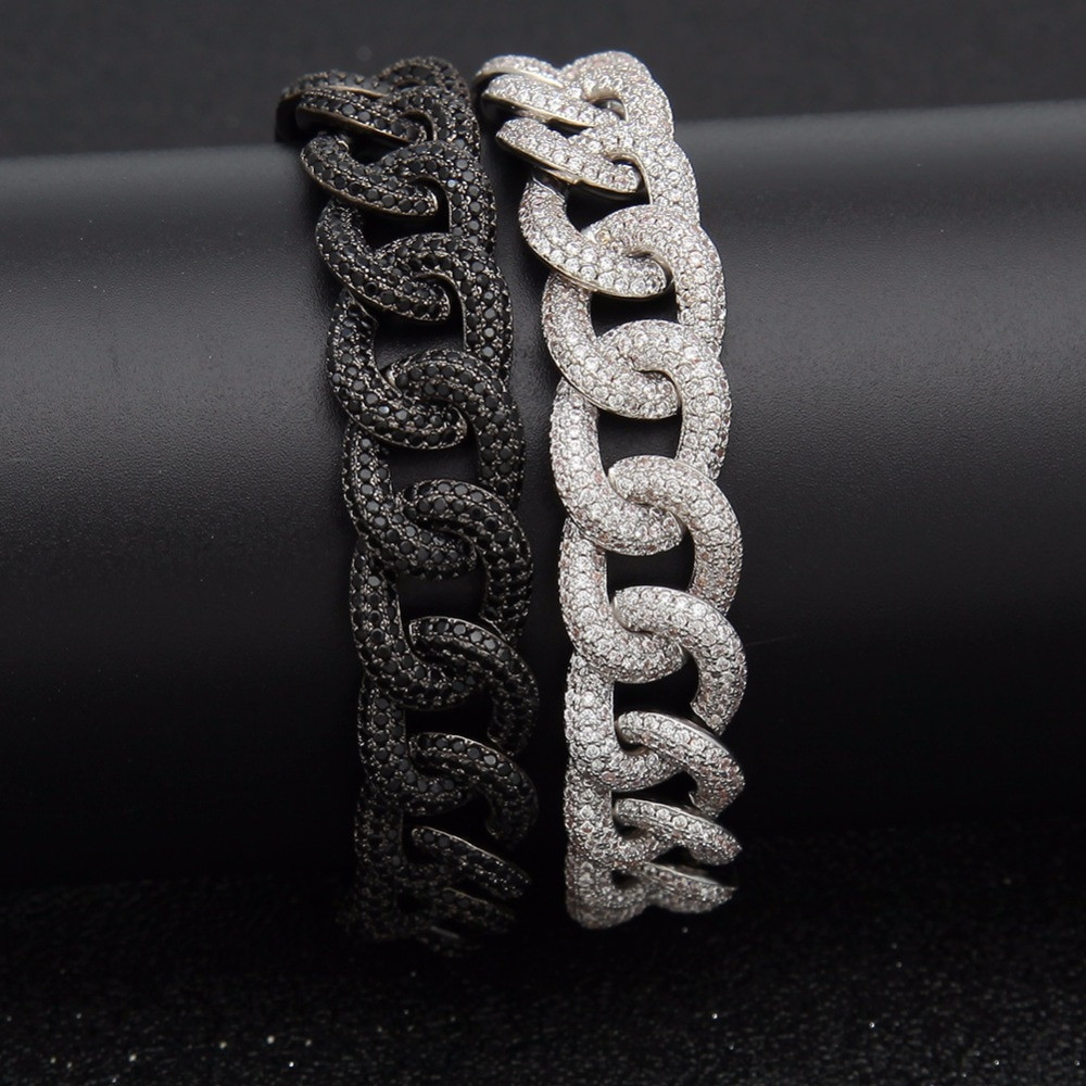 Micro Paved Bling Iced Out Miami Cuban Link Bracelet