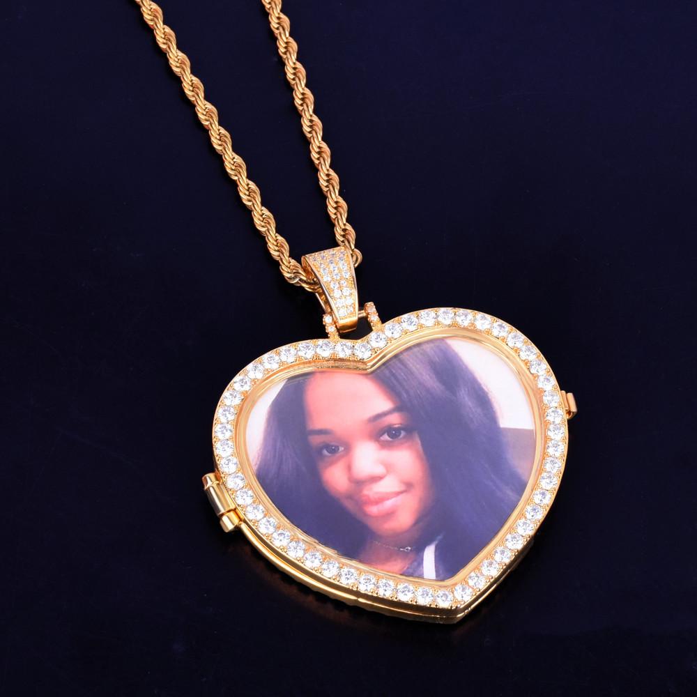 Custom Photo Heart Pendant
