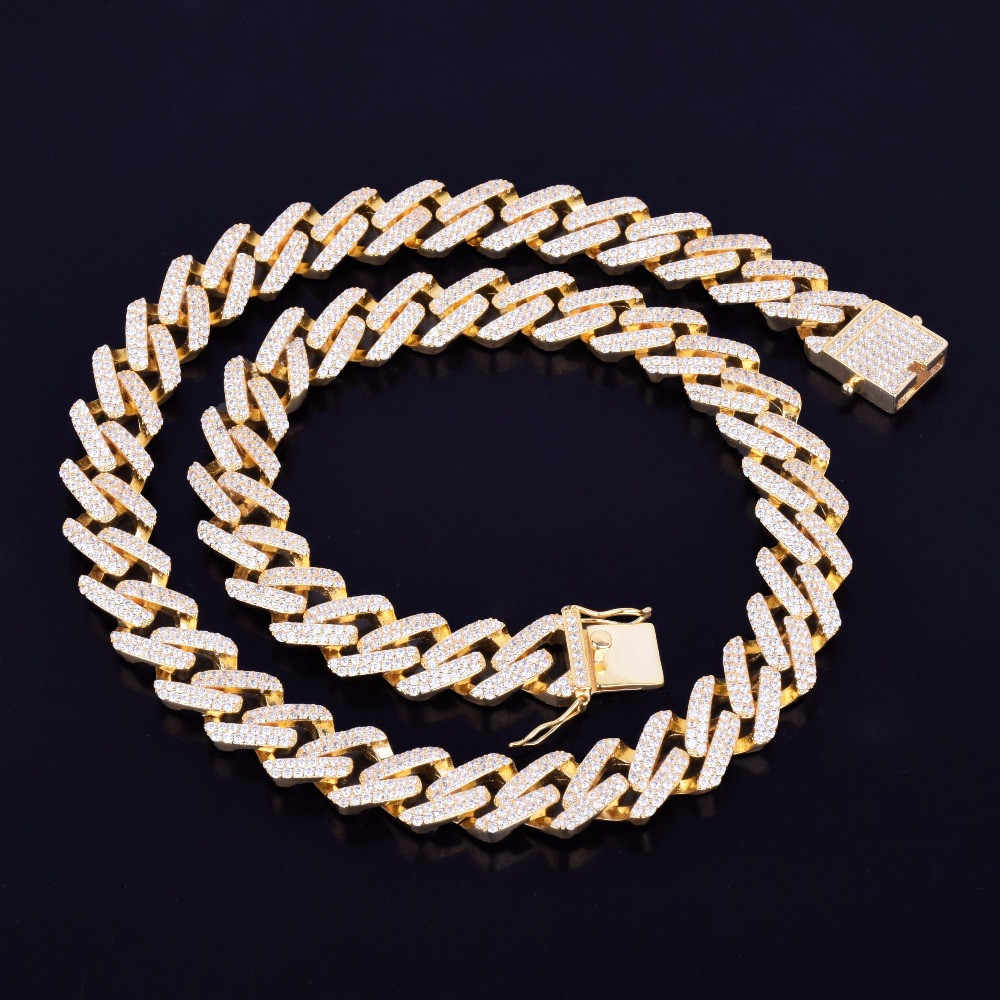 14k Gold Cuban Link Choker Necklace
