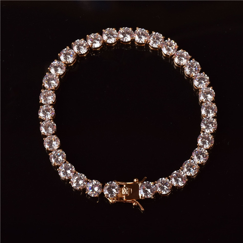 Rose Gold Mens Tennis Bracelet