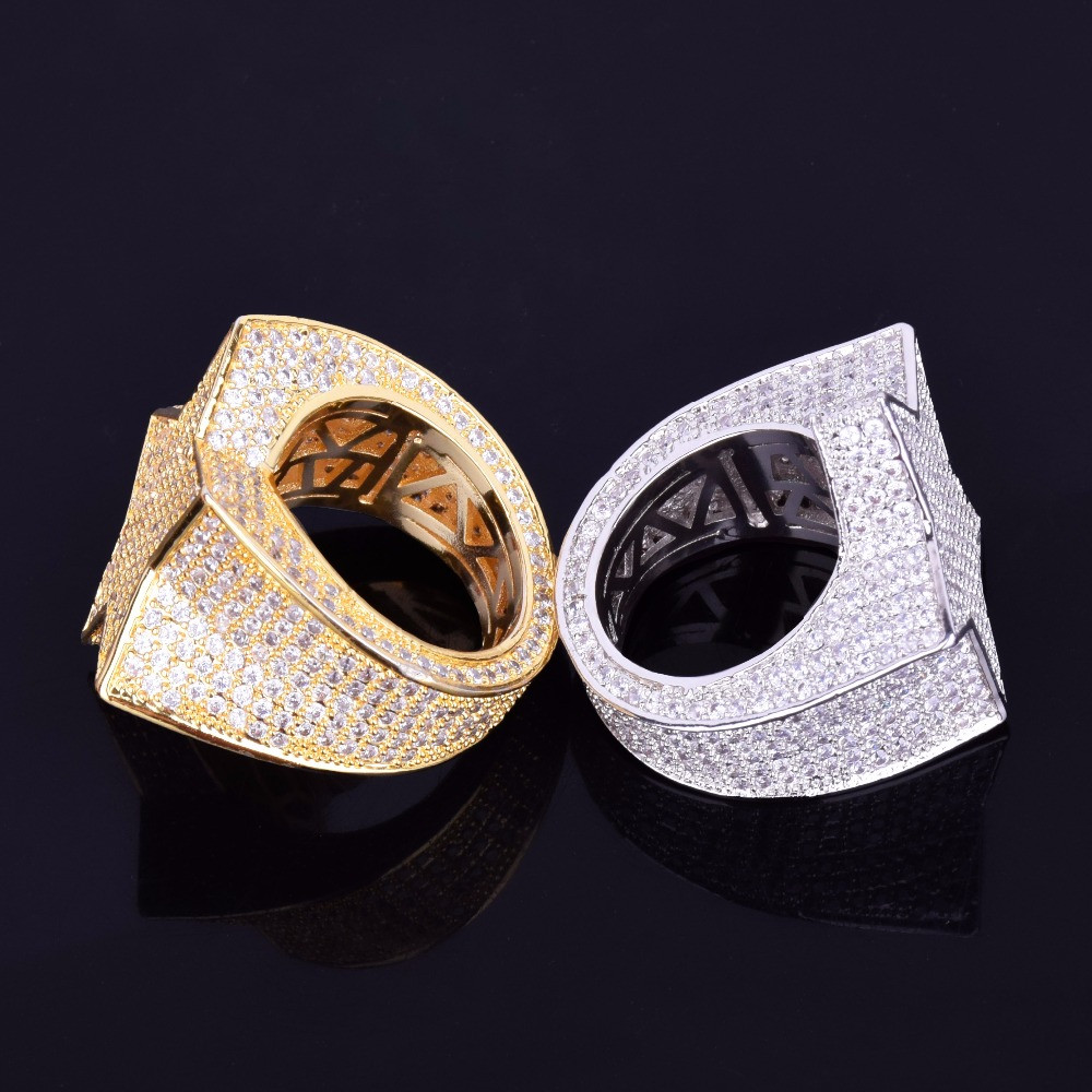Gold Silver 5 Star Rings