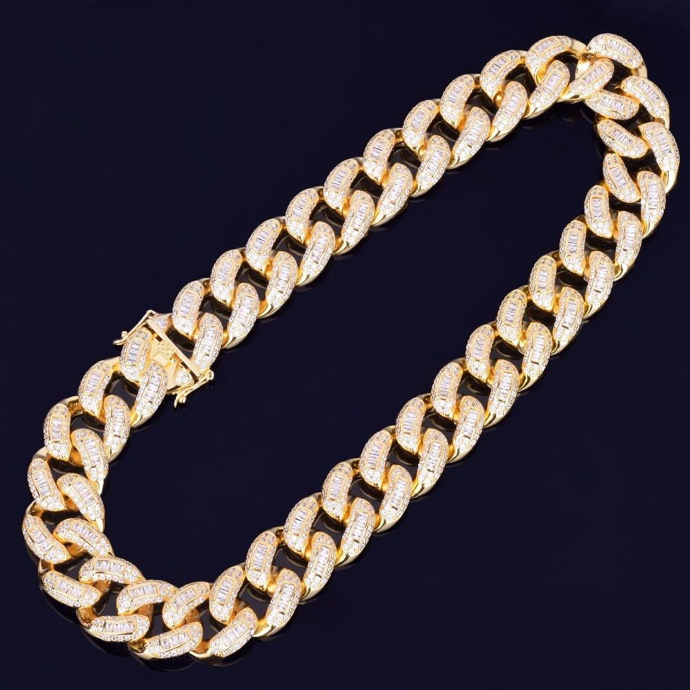 Gold Ice Baguette Cuban Link