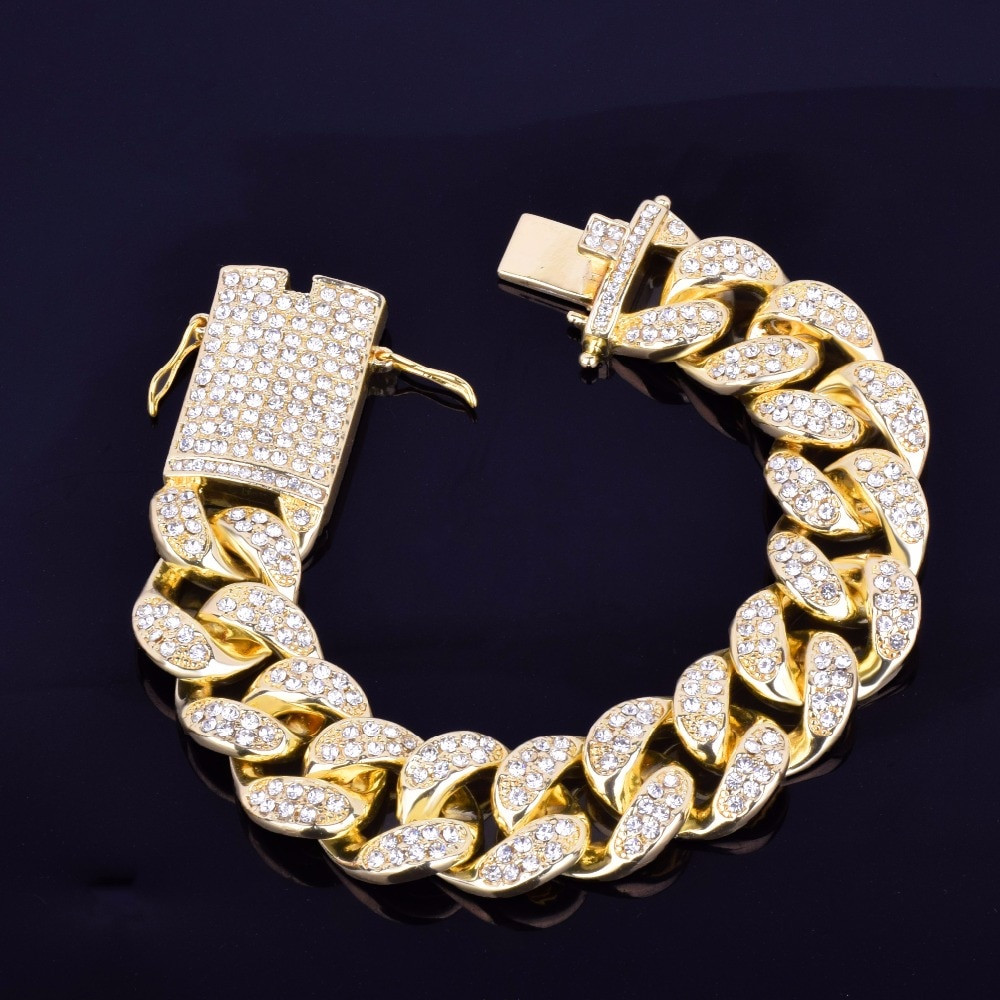 Cluster Stone Iced Bracelet