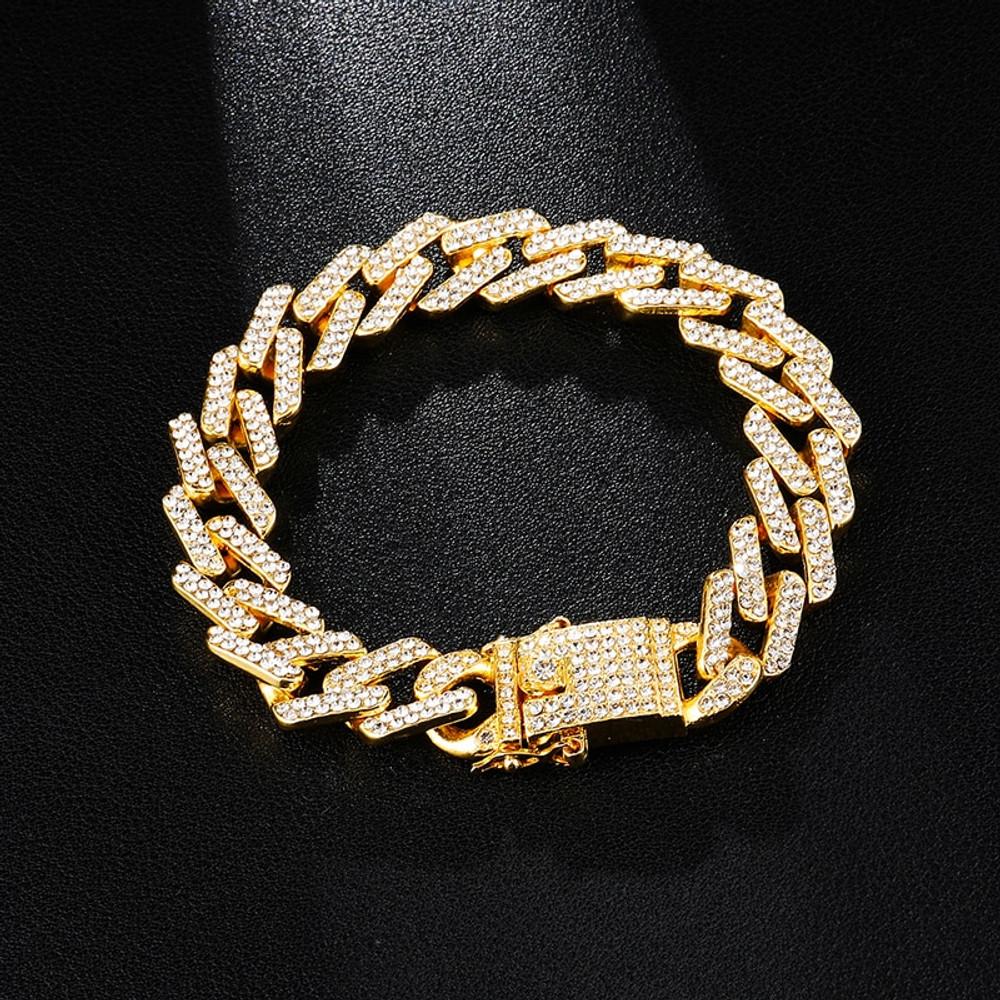 Hip Hop 13MM  Iced Full AAA Stone Designer Cuban Link Bracelet