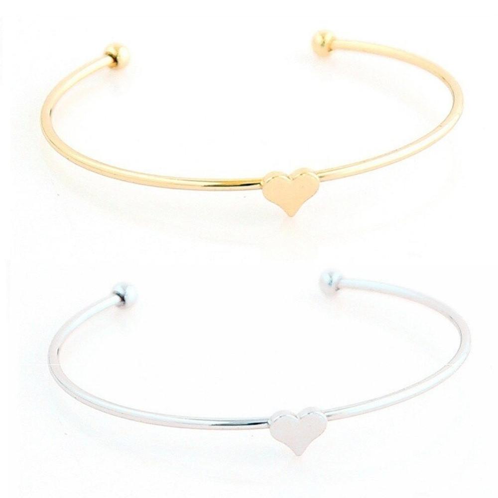 Women Fashion Bohemian Retro Simple Moon Star Heart Crystal 4 Piece Bracelet Set