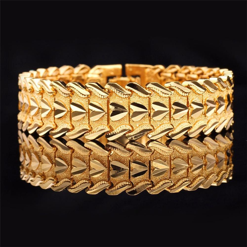 14k Gold Heart of a Man Bling Bracelet