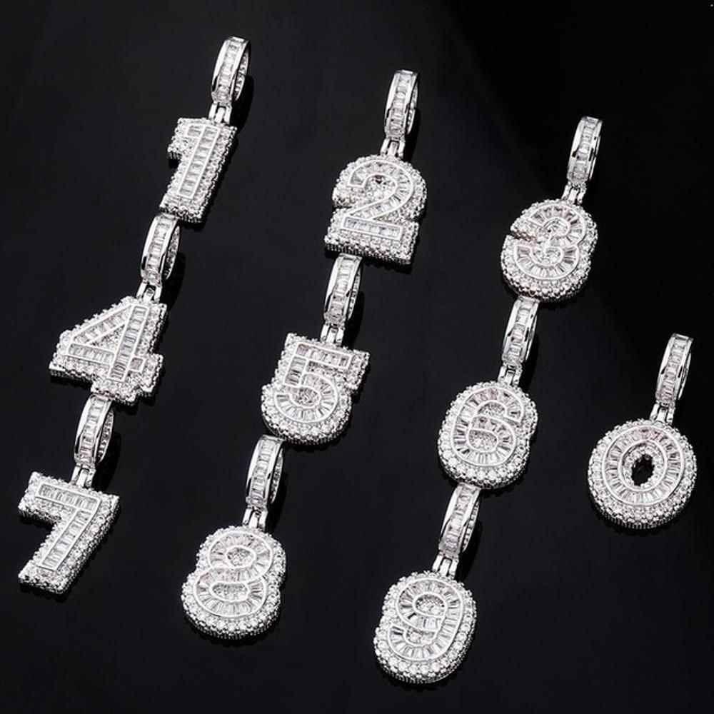 Hip Hop Baguette .925 Silver Letters