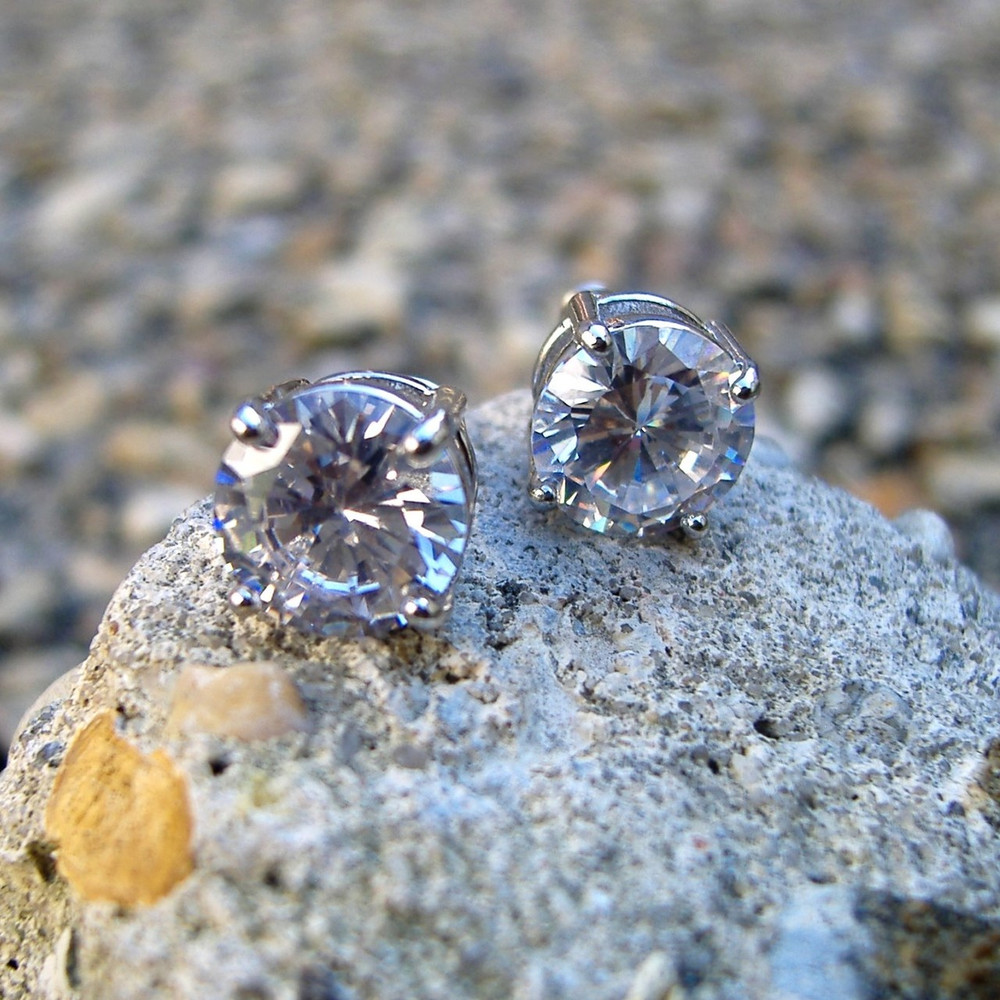 Diamond Cz Iced Out Earrings