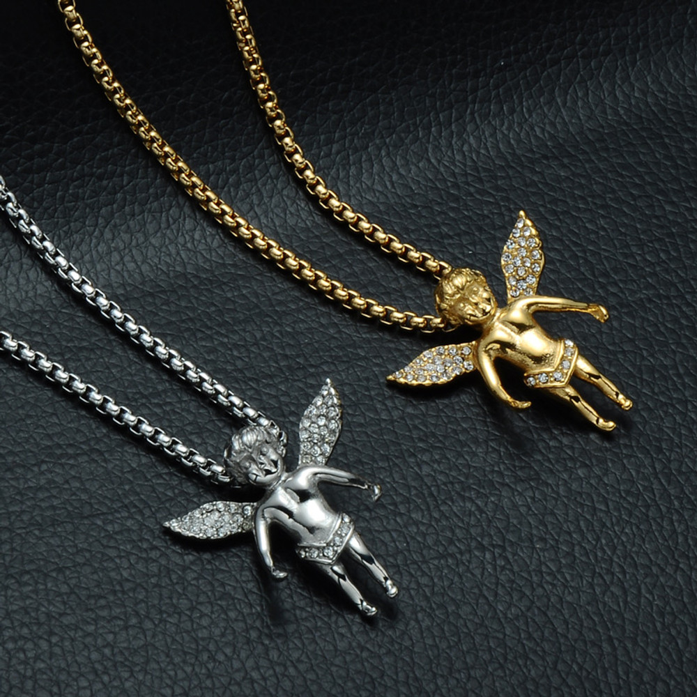 14k Gold Angel Cherub Chain