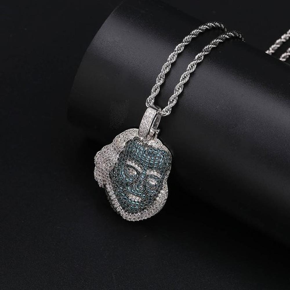 Blue Face Ben Franklin Pendant Makes You Shine Like A Boss!