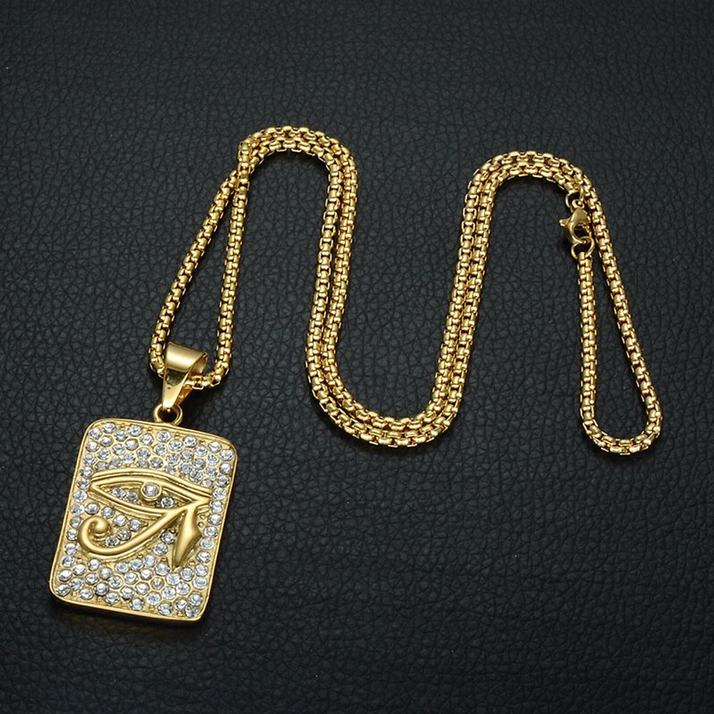 Accentuate The Bling With A Hip Hop Style Eye Of Horus Pendant!