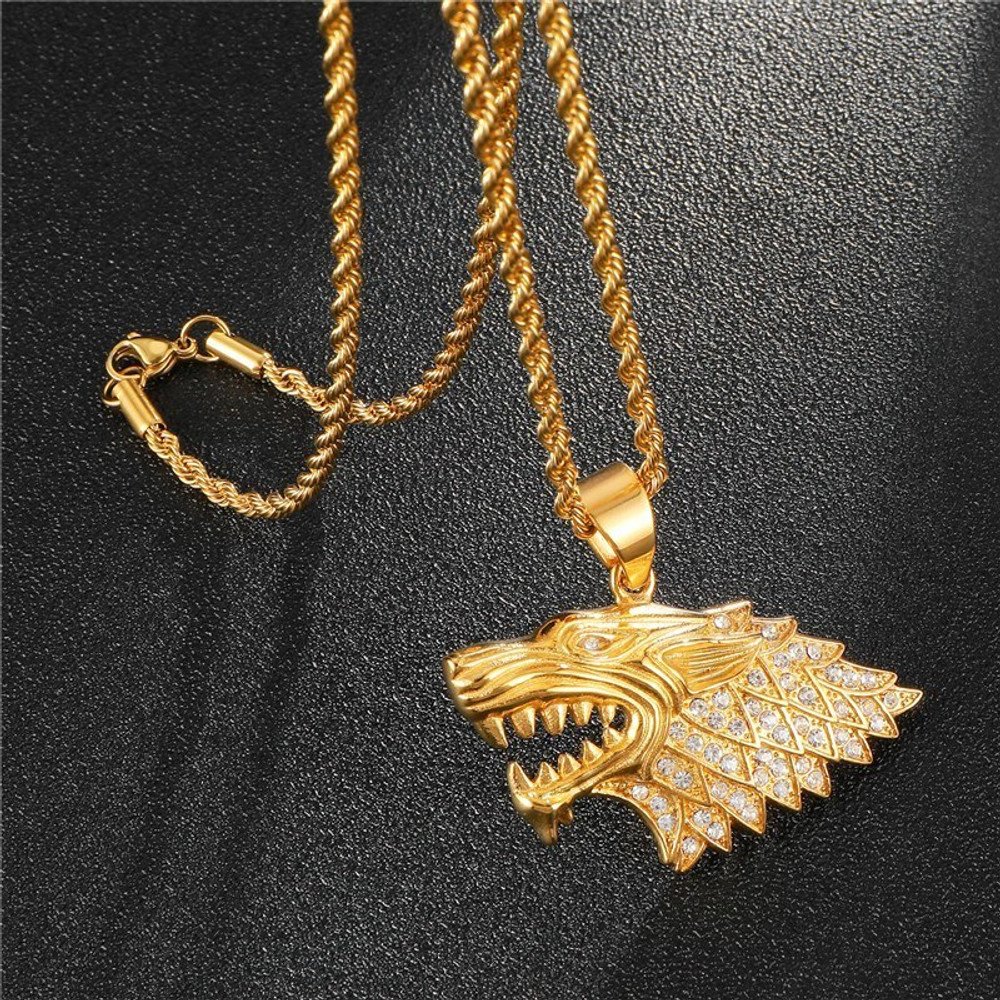 The Big Bad Wolf Iced Out Pendant Glitters And How!