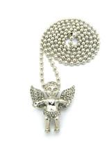 Silver Bling Angel Pendant